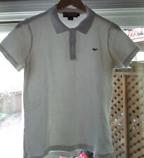 Vineyard Vines Women White Cotton Blend Polo Shirt Medium
