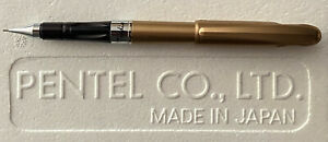 "Gold ""No Rubber Grip"" Pentel Quicker Clicker Tradio 0.5mm Mech. Pencil w/ Cap"