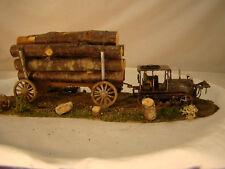 On30 or O scale very rare Caterpillar Tractor Logging Diorama - custom weathered