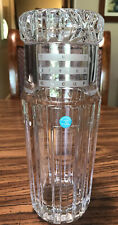 Tiffany & Co Crystal Glass Atlas Tumble Up Bedside Decanter Tumbler - 9½ inches