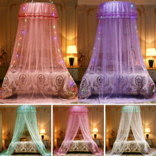 Home Double Bed Repellent Mosquito Nets Round Canopy Bed Tent Bed Curtain UK