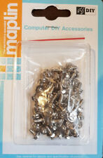 50 X PC Computer Case, PSU, Motherboard Screws Silver 6.3mm length