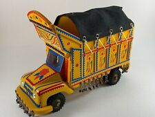 Custom Hand Made Gypsy Caravan Truck Wagon Folk Art Miniature Yellow