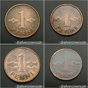 Finland 1 Penni 1963 1965 1967 1969. KM#44. Choose One Your Coin & Best Offer.