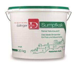 Sumpfkalk - mind. 3 Monate gesumpft [20kg] - naturreiner Sumpfkalk aus den Alpen