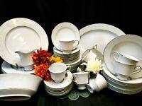 "Vintage Sango ""Florence"" #3646 Fine Bone China Dinnerware Set & Extras - 59 Pcs"