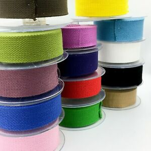 Trimz Cotton Webbing Heavy Duty 30 and 40 mm - 1 2 meters Various Colours