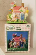 Vintage Cottontail Cottages 1997 Bunny Bakery Easter Hand Painted Porcelain