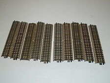 Marklin Track 10 Pieces 3600 D Straight - Grey Tabs on bottom