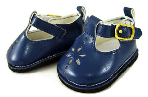 For Bitty Baby American Girl Doll Clothes Navy Blue T-Strap Shoes Sandals