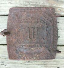 Vintage Cast Iron Metal Stove Door Woodland Country No 26 9.75� X 10.5�