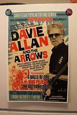 DAVIE ALLAN & The ARROWS San Antonio TX 2015 CONCERT POSTER link wray dick dale