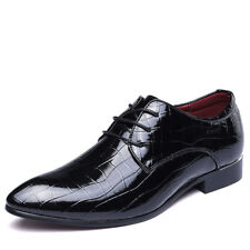Men's Patent Leather Business Shoes Pointed Toe Wedding Party Formal Dress