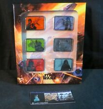 Star Wars Spaceship 6 pin set Millennium Falcon, X Wing, Tie Fighter LE 500 Rare
