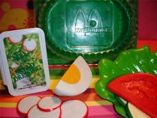 Children's playfood Lot McDonald's Salad Fixings Set RARE Hard To Find Dressing