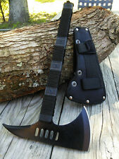 "NEW 14.5"" Walking Dead Black Tomahawk Zombie Axe Hatchet Survival Pack Camping"