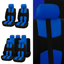 9Pcs Full Set Car Seat Covers Universal Seat Protector Fit Four Seasons Blue New