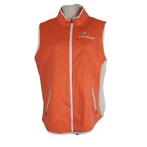 FootJoy Golf Vest Full Zip Women Size M Orange KELLY PLANTATION Sleeveless NEW