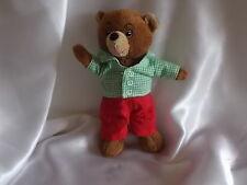 Doudou petit ours brun, chemise et pantalon, Bayard Jeunesse pour Pomme d'Api
