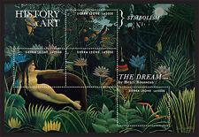 Sierra Leone- 2013 History of Art Stamp- sheetlet of 4 SC#3175