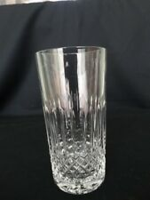 Galway Crystal Highball Glass GAL15 Crosshatch Vertical Lines & Star Foot