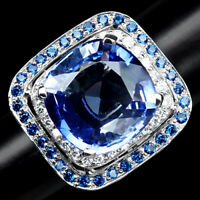 AAA VIOLET BLUE TANZANITE RING 22.10 CT. SAPPHIRE 925 STERLING SILVER SZ 7.75