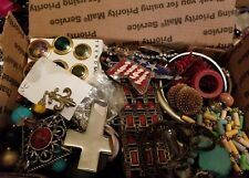 unsearched untested lot junk costume jewelry vintage modern western lbs good #8