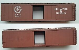 Pacific Rail Shops 50' Single Door D&H Boxcar SHELL Lettering Partially Stripped