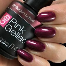 205 Burgundy Red Rot UV LED Gel Nagellack Shellac Pink Gellac 15 ml NEU Polish