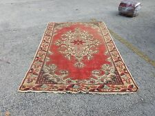 Beautiful Worn Antique Turkish Oushak Oriental Area Rug W Muted Colors