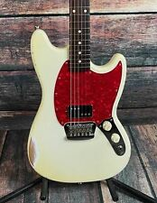 Used Warmoth Custom Built Parts Mustang with Gig Bag - Vintage White