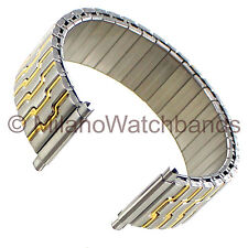 17-22mm Morellato Stainless Two Tone Twist-O-Flex Unique Lines Watch Band Long