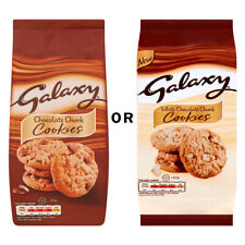 Galaxy Chocolate or White Choc Chunk Cookies 180g Biscuits Breakfast Tea Time