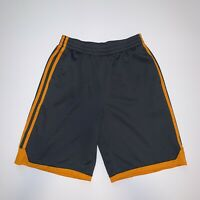 Adidas Athletic Gray and Orange Athletic Gym Shorts with Pockets Men's Size L