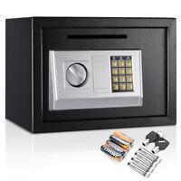 "14"" Digital Depository Drop Cash Safe Box Gun Jewelry Home Hotel Lock Black New"
