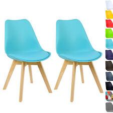2er Set Esszimmerstühle Design Esszimmerstuhl Küchenstuhl Holz Blau BH29bl-2