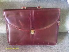 VINTAGE Mens LEATHER Briefcase / Laptop Bag Computer/ USED / WILSONS HOUSE