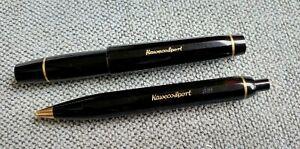 Vintage Set, Black Kaweco Sport V16  fountain pen, 619 ballpoint pen