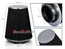 "BLACK 4"" 102mm Inlet Truck Air Intake Cone Replacement Quality Dry Air Filter"