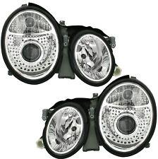 Scheinwerfer Set in Klarglas Chrom für MERCEDES W208 CLK 2/97- Facelift Optik