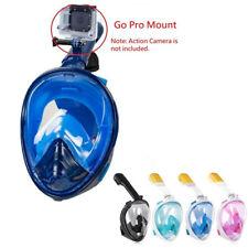 Full-Face Dry Snorkeling & Free Diving Mask 180 Degree Anti-Fog w/Camera Mount