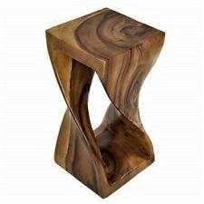 Lifestyle Twisted Wood Stool 20 x 20 x 41cm, Honey