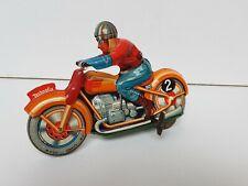 Moto technofix en superbe état jouet ancien en tôle