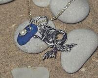 Mermaid and blue sea glass necklace. Sea glass jewellery.
