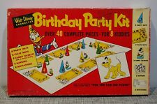 New listing Vintage Walt Disney Mickey Mouse Donald Duck Birthday Party Kit Game Toy 50s Old