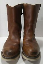 Mens Wolverine 1916 Brown Leather Wellington Pull On Work Boots Sz 11 1/2 B.