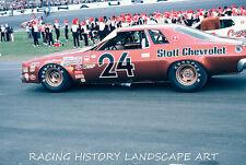 1975 DAYTONA 500 8x10 PHOTO WINSTON CUP #24 CECIL GORDON CHEVROLET NASCAR RACING