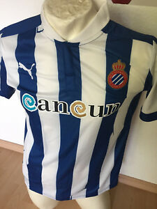 Puma | Espanyol Barcelona Trikot | blau-weiß gestreift | Größe S + L + 2XL | NEU