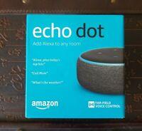 NEW Amazon Echo Dot 3rd Generation Smart Speaker w/Alexa Black/Charcoal freeship
