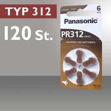 120 x Pilas de Botón Para Audífonos Tipo 312 PR41 ZL3